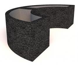 Вазон бетонный Трансформер полукруг