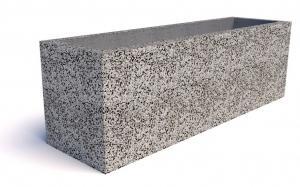 Вазон Севилья из бетона с крошкой из натур. камня