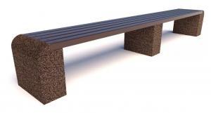 Скамейка бетонная Евро 1 лайн