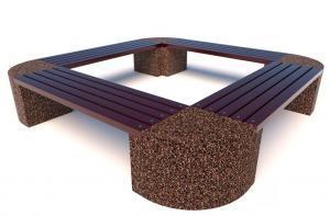 Скамейка бетонная Евро 2 Ринг