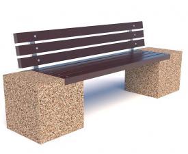 Скамейка бетонная Евро 2 со спинкой