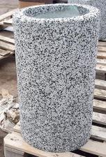 Урна бетонная Кёльн с крошкой из натурального камня