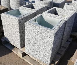 Урна бетонная Киль с крошкой из камня