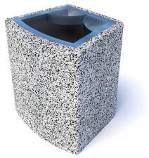 Урна бетонная Марсель с фактурой из камня