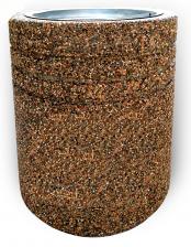 Урна бетонная Гамбург с крошкой из камня