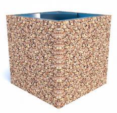 Урна бетонная Каролина с крошкой из камня