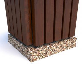 Урны бетонные деревянные Авиньон 51х60