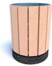 Урны бетонные деревянные Рунд