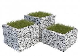 Комплект бетонных вазонов Каролина Трио