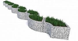 Комплект бетонных вазонов Трансформер Змейка