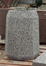 Урна бетонная Варшава с крошкой из камня