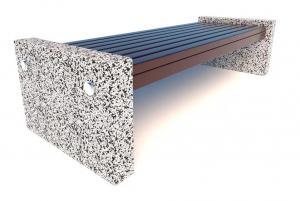 Скамейка бетонная Евро 3 1800x650x450