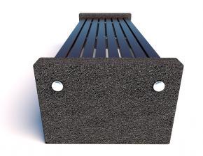 Скамейка бетонная уличная Евро 3