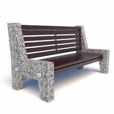 Скамейка бетонная Евро 7 со спинкой