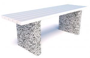 Скамейка бетонная уличная Евро 6 мини