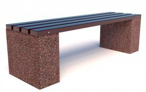Скамейка бетонная уличная Евро 6