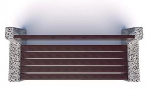 Скамейка бетонная Евро 4 со спинкой