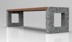 Скамейка бетонная Арена без спинки