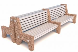 Скамейка бетонная Евро 7 Бульвар со спинкой