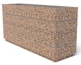 Вазон бетонный Бар 150