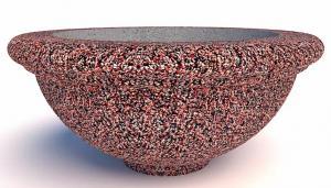 Вазон бетонный Ламелла на ножке