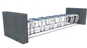 Велопарковка бетонная 7X