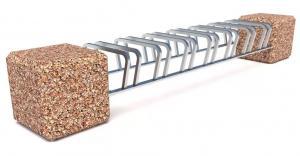 Велопарковка бетонная 7X Куб