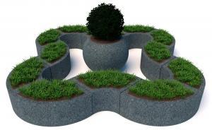 Комплект бетонных вазонов Трансформер и Глобус