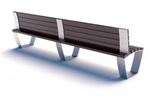 Скамейка металлическая  Campus Line СП
