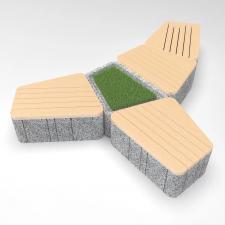 Скамейка бетонная UNI RBT