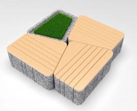 Скамейка бетонная UNI SST