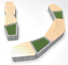 Скамейка бетонная UNI RBL