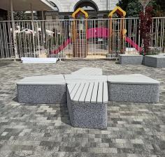 Комплекс бетонных скамеек серии Uniun закрытые
