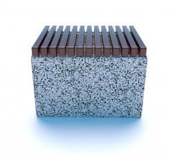 Скамейка ТЕМПO-700 c деревянными ламелями