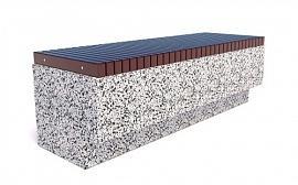 Скамейка ТЕМПO-1500 c деревянными ламелями
