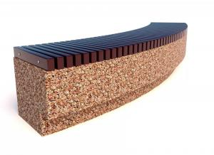 Скамейка ТЕМПO-4024 c деревянными ламелями