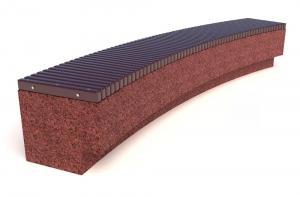 Скамейка ТЕМПO-5799R c деревянными ламелями