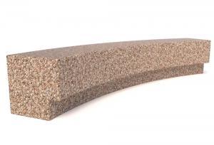 Скамейка ТЕМПO-4024R с бетонным основанием