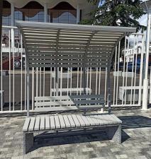 Скамейка бетонная Сочи с навесом