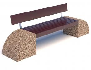 Скамейка бетонная Бридж