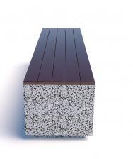 Скамейка бетонная Еврокуб 2000x500x450