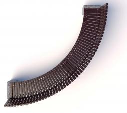 Скамейка бетонная Евро 1 арка со спинкой
