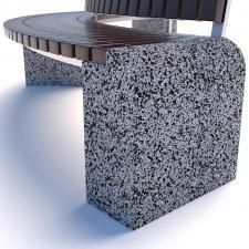Скамейка бетонная Евро 1 арка 2 со спинкой