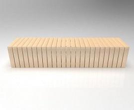 Скамейка бетонная Евро 5 без спинки
