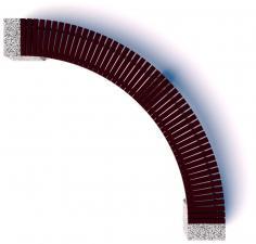 Скамейка бетонная Евро 2 Арка 3600