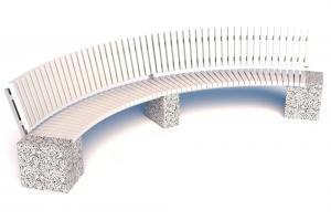 Скамейка бетонная Евро 2 Арка 3600 со спинкой