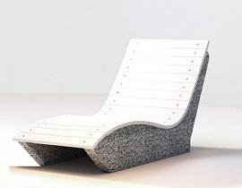 Скамейка бетонная Шезлонг на одно место