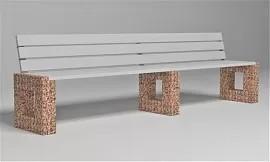 Скамейка бетонная Арена Лайн