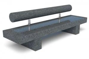 Скамейка бетонная Шпалер Премиум