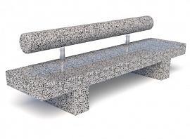 ССкамейка бетонная Шпалер Премиум